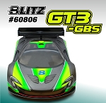 BLITZ 1/8 GT3 GBS Body with Wing (0,7mm)