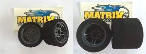 Matrix 1/8 On-road 32 Front 35 Rear Set (4 tires) (pre-trued 76mm)