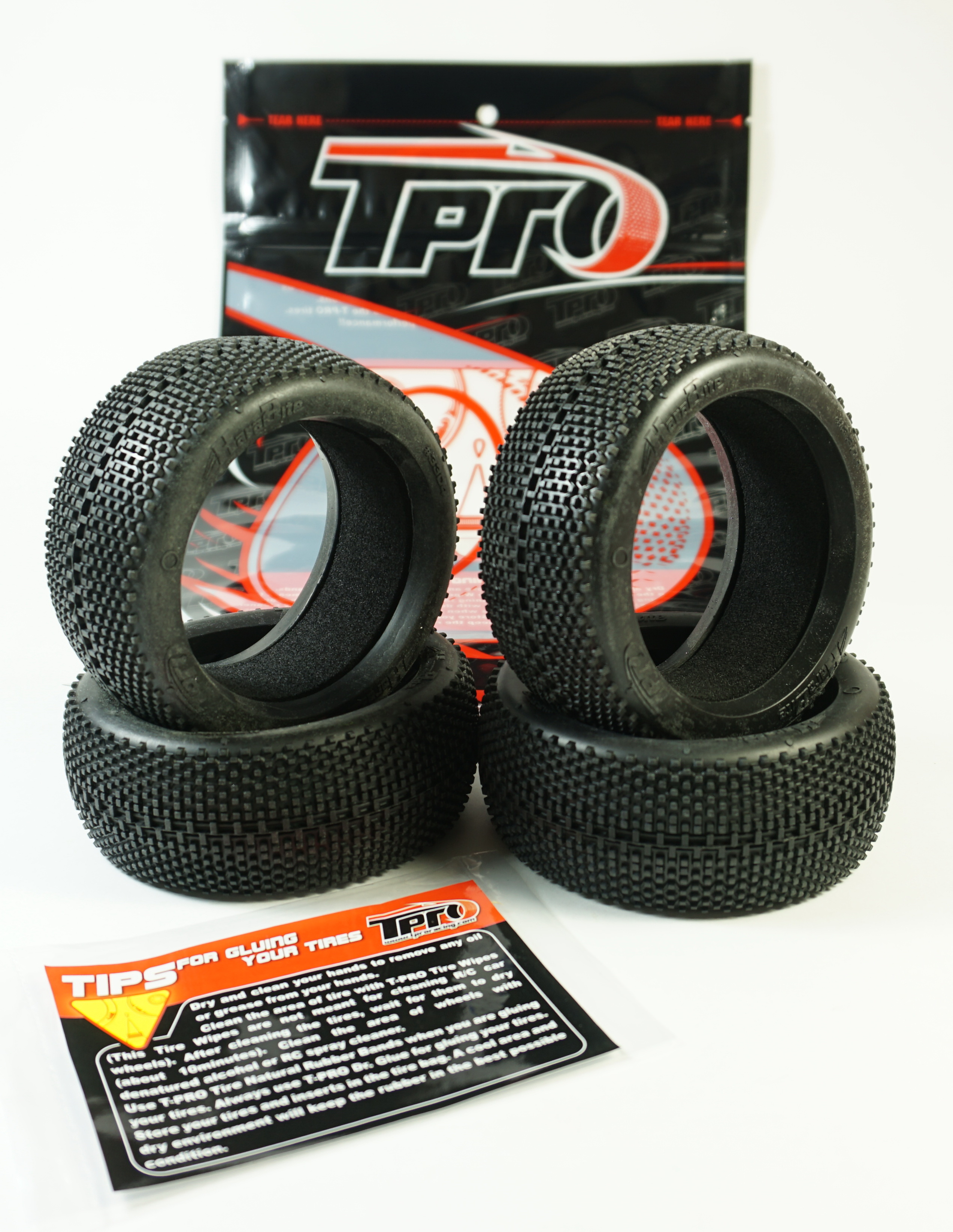 TPRO 1/8 OffRoad HARABITE Racing Tire & Insert (XR T2 - Medium)(4)